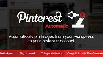افزونه پین خودکار پینترست Pinterest Automatic وردپرس نسخه 4.11.1
