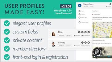 افزونه پروفایل کاربری User Profiles Made Easy وردپرس نسخه 2.3.09