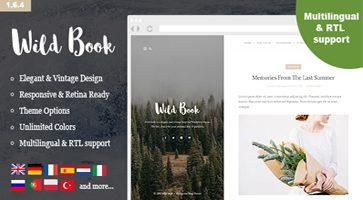 پوسته وبلاگی و نمونه کارها Wild Book وردپرس نسخه 1.6.4