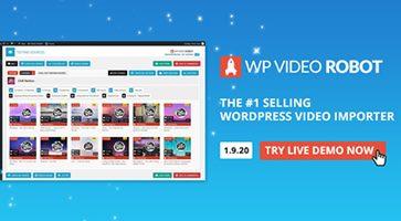 افزونه وارد کننده ویدئو WordPress Video Robot وردپرس نسخه 1.9.20