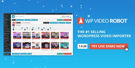 افزونه وارد کننده ویدئو WordPress Video Robot وردپرس