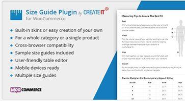 افزونه راهنمای اندازه محصول WooCommerce Product Size Guide ووکامرس نسخه 3.4