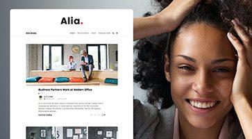 پوسته وبسایت شخصی Alia وردپرس نسخه 1.43