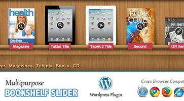 افزونه اسلایدر کتاب و مجلات Multipurpose Bookshelf Slider وردپرس نسخه 2.14