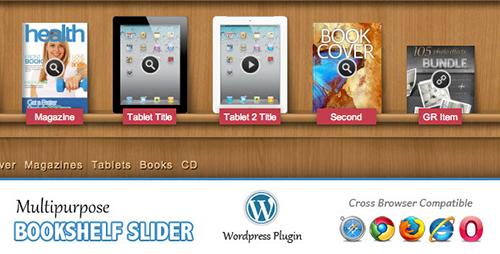 افزونه اسلایدر کتاب و مجلات Multipurpose Bookshelf Slider وردپرس