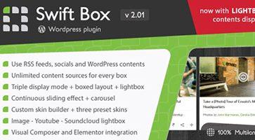 افزونه نمایش و اسلایدر محتوا Swift Box وردپرس نسخه 2.01
