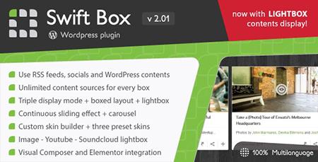 افزونه اسلایدر محتوا Swift Box وردپرس