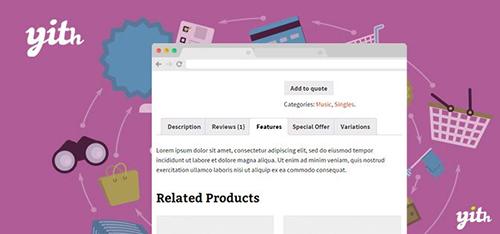 افزونه مدیریت تبهای صفحه محصولات YITH WooCommerce Tab Manager ووکامرس