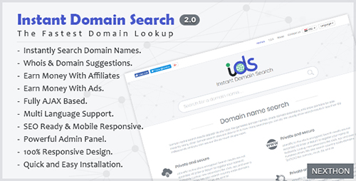 اسکریپت جستجوی دامنه Instant Domain Search Script