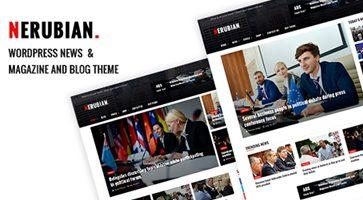 پوسته مجله خبری Nerubian وردپرس نسخه 1.0.7