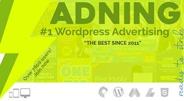 افزونه مدیریت تبلیغات Adning Advertising وردپرس نسخه 1.0.8