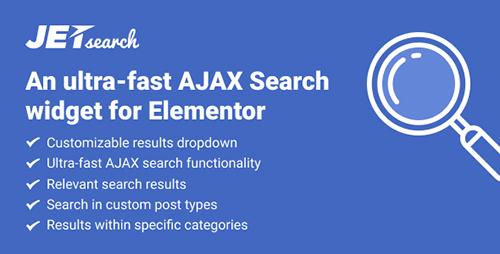 افزونه JetSearch ابزارک جستجوی صفحهساز Elementor وردپرس