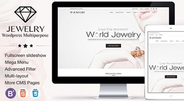 پوسته فروشگاهی و چندمنظوره Jewelry وردپرس نسخه 3.0.3
