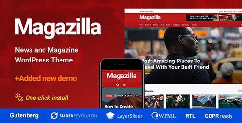 پوسته مجله خبری Magazilla وردپرس