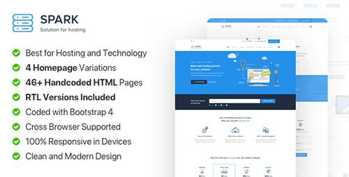 قالب هاستینگ و ثبت دامنه Spark Host نسخه HTML