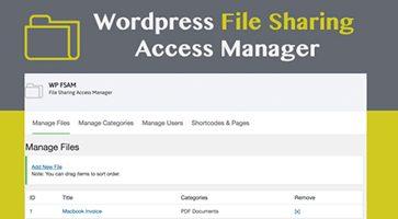 افزونه مدیریت دسترسی اشتراک گذاری فایل WP FSAM وردپرس نسخه 1.0