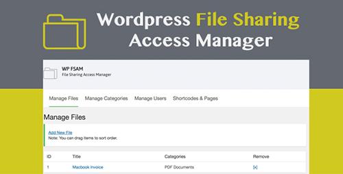 افزونه مدیریت دسترسی اشتراک گذاری فایل WP FSAM وردپرس نسخه ۱٫۰