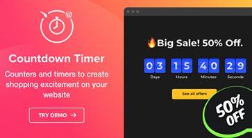افزونه شمارنده معکوس Countdown Timer وردپرس نسخه 1.0