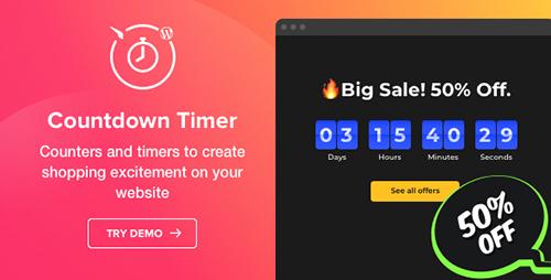 افزونه شمارنده معکوس Countdown Timer وردپرس