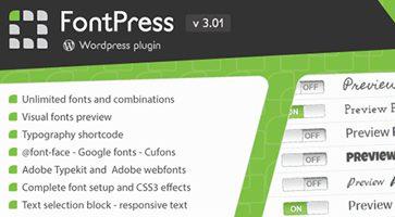 افزونه مدیریت فونت FontPress وردپرس نسخه 3.01