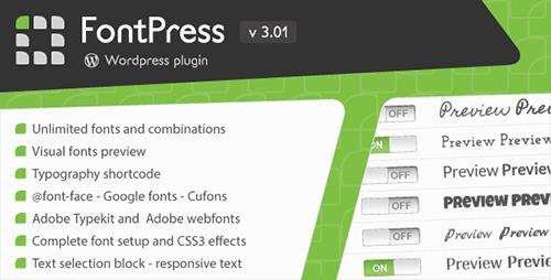 افزونه مدیریت فونت FontPress وردپرس