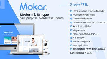 پوسته چندمنظوره Mokar وردپرس نسخه 1.0.2