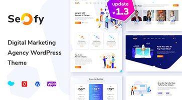 پوسته سئو و دیجیتال مارکتینگ Seofy وردپرس نسخه 1.3