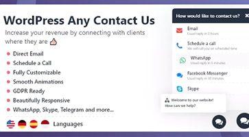 افزونه تماس با ما WordPress Any Contact Us وردپرس نسخه 1.0.4