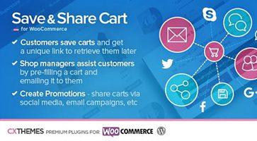 افزونه ذخیره و انتشار سبد خرید Save & Share Cart ووکامرس نسخه 2.20