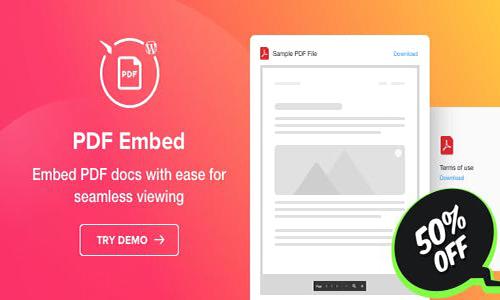 افزونه PDF Embed نمایش فایلهای PDF در وردپرس