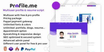 اسکریپت صفحه شخصی و پروفایل دهی Profile.me نسخه 1.0