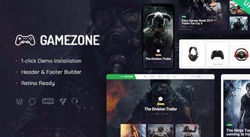 پوسته بازی های کامپیوتری Gamezone وردپرس نسخه 1.1
