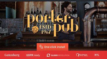 پوسته رستوران و کافی شاپ Porter Pub وردپرس نسخه 1.0.8