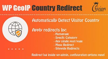 افزونه تغییر مسیر بر اساس موقعیت کاربر WP GeoIP Country Redirect وردپرس نسخه 3.1