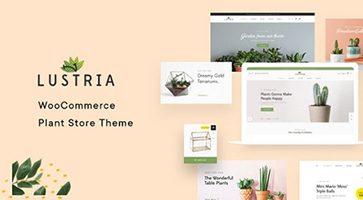پوسته فروشگاه گل و گیاه Lustria ووکامرس نسخه 1.2