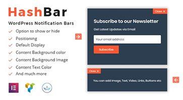 افزونه HashBar Pro نوار اطلاع رسانی وردپرس نسخه 1.1.0