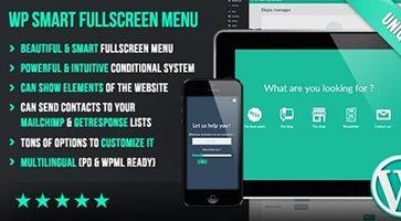 افزونه WP Smart Fullscreen Menu منوی حرفه ای وردپرس نسخه 1.043