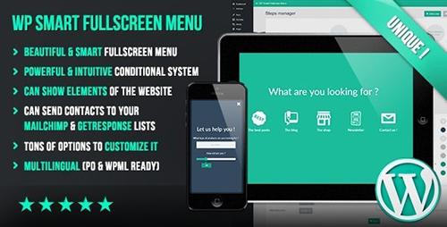 افزونه WP Smart Fullscreen Menu منوی حرفه ای وردپرس