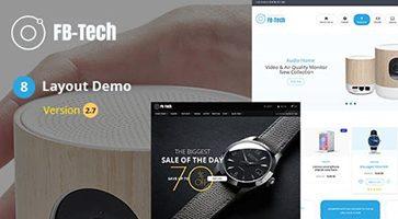 پوسته فروشگاهی FB-Tech ووکامرس نسخه 2.7
