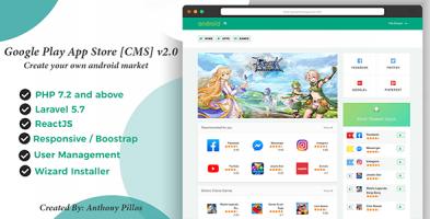 اسکریپت سیستم انتشار اپلیکیشن Google Play App Store نسخه 2.0.3