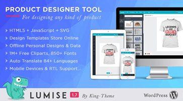 افزونه طراحی محصول در ووکامرس Lumise Product Designer نسخه 1.9.7