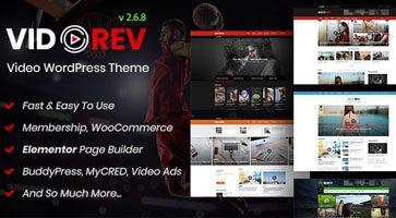 پوسته سرویس اشتراک ویدئو VidoRev وردپرس نسخه 2.9.9.9.6