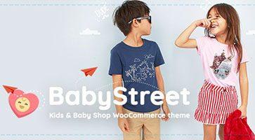 پوسته فروشگاهی لوازم کودکان BabyStreet ووکامرس نسخه 1.3.7