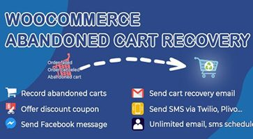 افزونه بازیابی سبد خرید ووکامرس WooCommerce Abandoned Cart Recovery نسخه 1.0.5.1