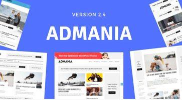 پوسته وبلاگی و مجله خبری Admania نسخه 2.4.6