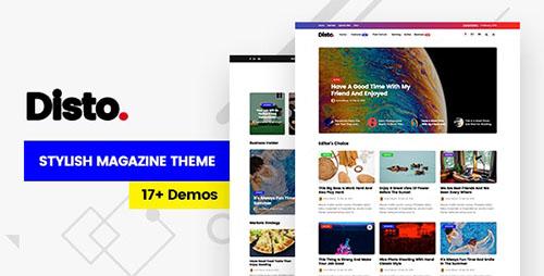 پوسته مجله خبری Disto وردپرس نسخه ۱٫۶