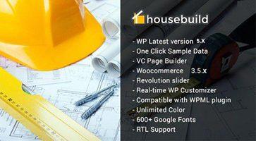 پوسته ساخت وساز Housebuild وردپرس نسخه 1.5