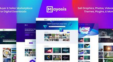 پوسته فروش محصولات دیجیتالی Mayosis وردپرس نسخه 2.6.2