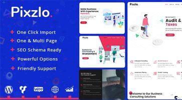 پوسته شرکتی Pixzlo وردپرس نسخه 1.0.7