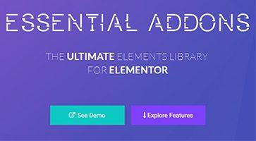 افزودنی های ضروری المنتور Essential Addons for Elementor نسخه 3.6.2